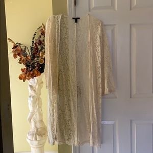 Lace maxi duster